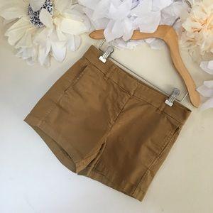 J Crew | Camel Tan Chino Shorts | Size 0